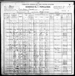 1900-IL Census, District 87, Lick Prairie Precinct, Wabash Co, IL