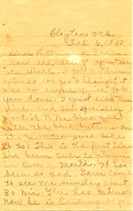 1935 Letter from Phoebe Bishop to daughter, Betty & family