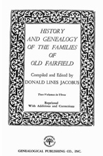 History and Genealogy of the Families of Old Fairfield - Couch References